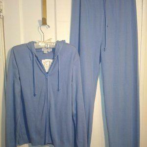 Saks Fifth Avenue Active Wear Blue Hoodie/Pant NWT